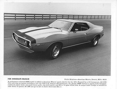 1971 AMC Javelin AMX  ORIGINAL Factory Photo oub5539