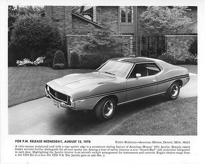 1971 AMC Javelin ORIGINAL Factory Photo oub5540