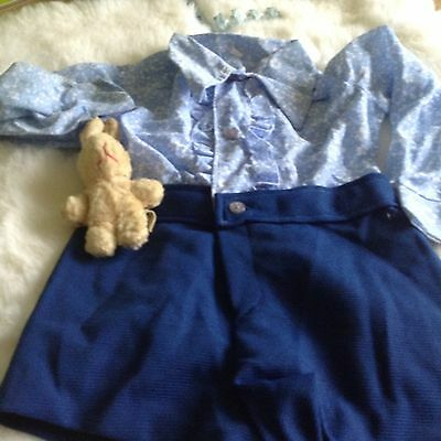 AUTHENTIC VINTAGE  INFANT BABY CHILDRENS  ROMPER SUIT 9/12 MONTHS 70 s UNUSED