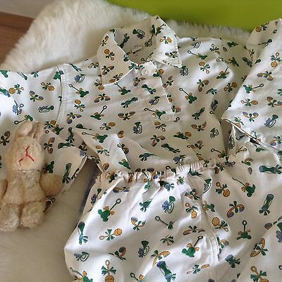 AUTHENTIC VINTAGE 70s UNUSED BABY BOY/GIRLS INFANTS CHILD PYJAMAS 12 MONTHS