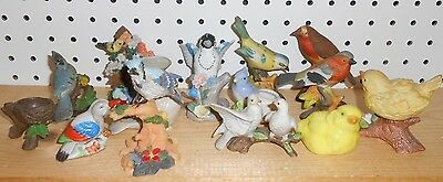 A Collection of 13 various small Bird Figurines