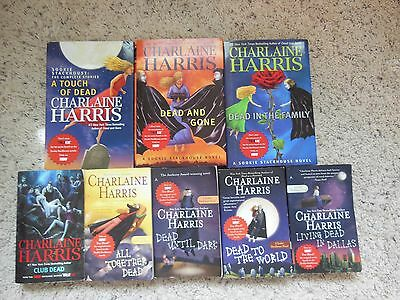 Mixed Lot Of 8 Books By Charlaine Harris-True Blood
