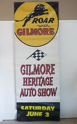 Roar With Gilmore Gilmore Heritage Auto Show 8' Banner Sign Oil Gas Los Angeles