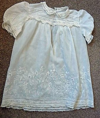 Vintage Child's Dress, Beautiful Ayrshire Work, Lace