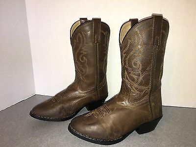 Boys Youth Smoky Mountain Leather Cowboy Boots Sz 3 D