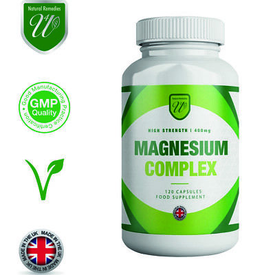 MAGNESIUM COMPLEX 400mg - 30 120 OR 360 VEGETARIAN  CAPSULES CITRATE NOT TABLETS