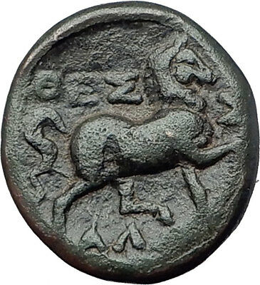 LARISSA Thessaly Ancient Greek Coin for THESSALIAN LEAGUE - ATHENA HORSE i61591