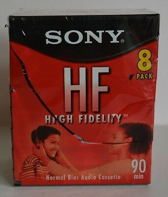 Sony High Fidelity Hf 90 Minute Normal Bias Audio Cassettes Pack Of 8 Blank