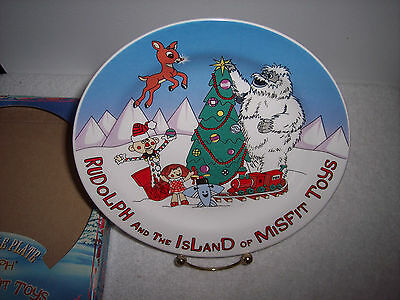 """Rudolph and The Island of Misfit Toys Collectible 8"""" Plate~ New in Box"""