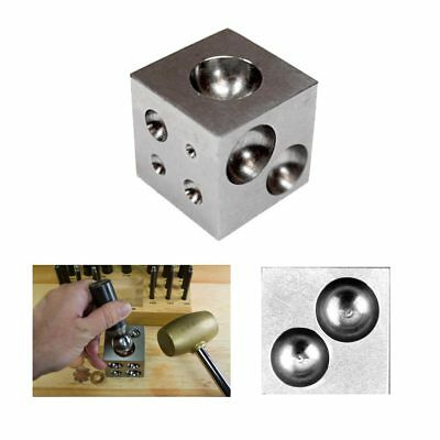 1 Dapping Block Doming Punch Metal Forming Steel Cavities Jewelry Metalsmith New