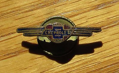 Vintage 1930's Chevrolet Service pin lapel pin screw back Brass enameled