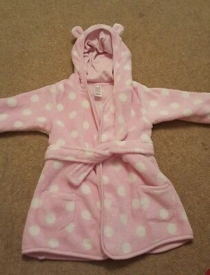 baby girl cute dressing gown 6-9