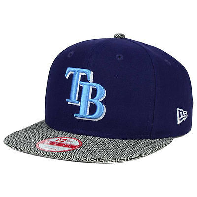 low priced 9b690 1eb70 Tampa Bay Rays New Era MLB Premium Baseball 9FIFTY Snapback Flat Bill Cap  Hat TB
