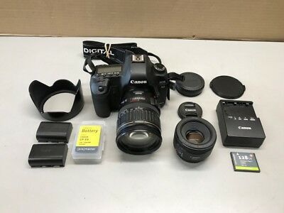 CANON EOS 5D MARK II 21.1MP DIGITAL SLR CAMERA 28-135mm, 50mm LENS' (GCE025549)
