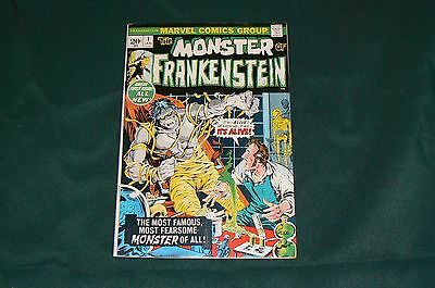 Marvel Comic 1973 THE MONSTER OF FRANKENSTEIN #1  Mike Ploog Cover & Art VF+