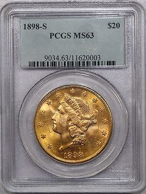 1898 S $20 Liberty Gold Certified Pcgs Ms 63 - Nice!  9034.63/11620003