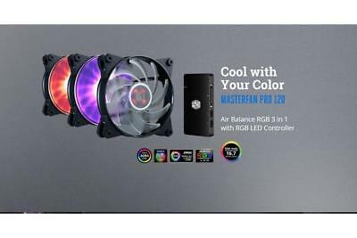 Coolermaster MasterFan Pro RGB Air Balance 120mm Fan 3 PACK + RGB Control,