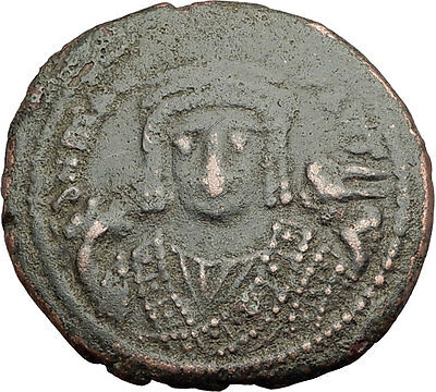 MAURICE TIBERIUS 582AD Antioch Follis Authentic Ancient Byzantine Coin i62566