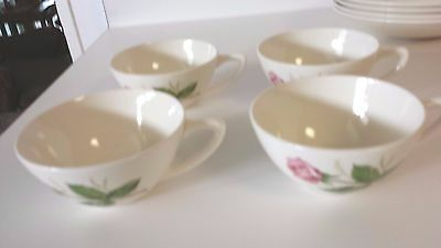 Knowles Tea Rose Cups Set Of 4 Pink Rose Cups Vintage Dishes