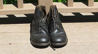 Early Vietnam War U.S Army Military Cap Toe Leather Combat Boots 8 EE