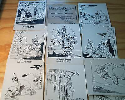 1922 Unused Complete Story of HIAWATHA in prints to Color, Cut and Paste