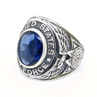 Vintage Post-WWII Uncas Sterling Silver United States Air Force Ring Size 9