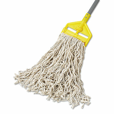Rubbermaid Commercial Premium Cut-End Cotton Wet Mop Head 24oz White 1-inch
