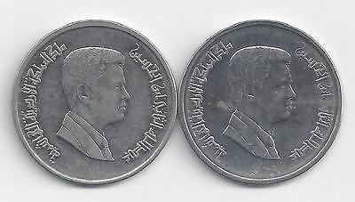 2 DIFFERENT 5 PIASTRE COINS from JORDAN DATING 2008 & 2009