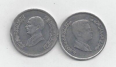 2 DIFFERENT 5 PIASTRE COINS from JORDAN - 1993 & 2000 (2 TYPES)