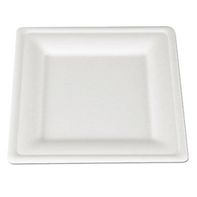 SCT ChampWare Molded Fiber Tableware Square 8 x 8 White 500 per Carton