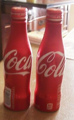 Price Reduced 2 Glass 2 Metal Coca Cola Bottles  From Coke Headquarters