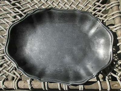 Awesome Antique Pewter Serving Dish - Must See !!!