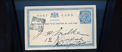 1888 Jamaica postcard to Kingston Re: Silver Watches  BL1097