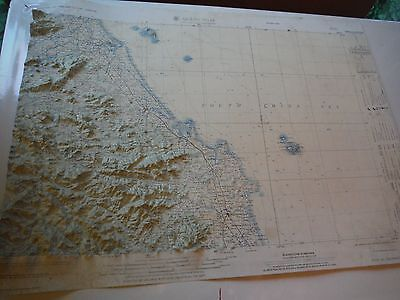 Vietnam era US Army Corps of Engineers Topographic Map Quang Ngai mosaic 1965