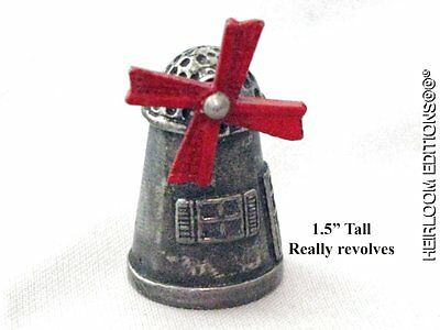 Red Windmill Thimble