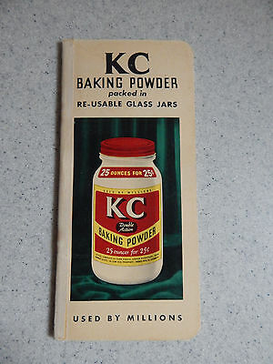 K C Baking Powder Grocer's Want Book - Jaques Manufacturing Co. Chicago Illinois