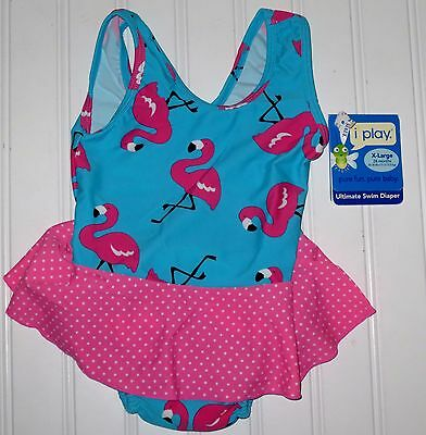 NWT Girl's~~i Play~~Swim Diaper One-Piece Swimsuit Size 24 Months