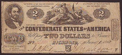 1862  $2  Confederate States Currency  T-42