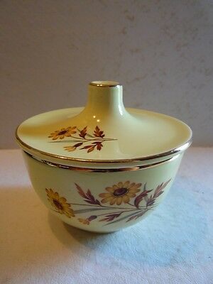 Sugar Bowl With Lid Versatile Yellow Daisies Taylor, Smith & Taylor