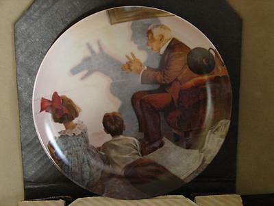 Norman Rockwell Collector Plate: The Shadow Artist w/Coa and O/G Box
