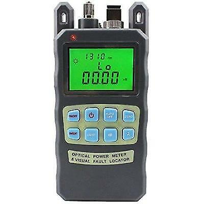 Zoostliss Portable Adjustable Fiber Optic Optical Power Meter Cable Tester