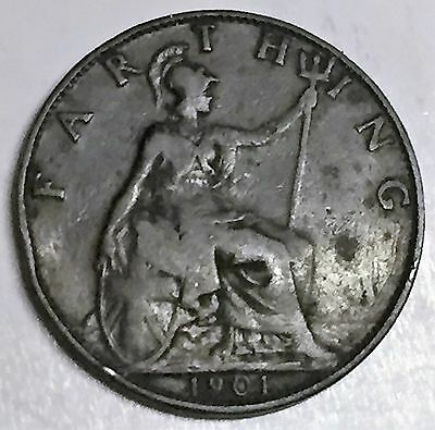 C3691    Great  Britain   Coin,    Farthing       1901