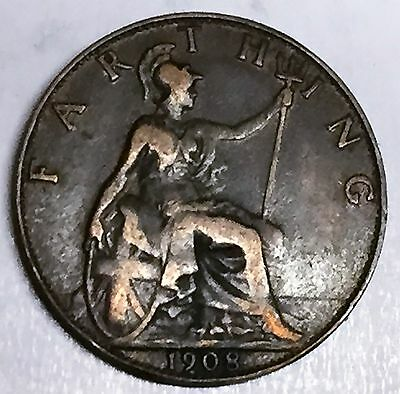 C3692    Great  Britain   Coin,    Farthing       1908