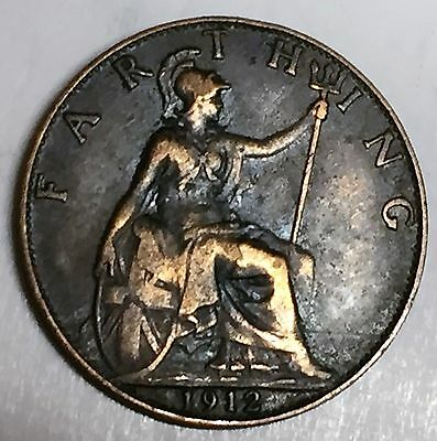 C3693    Great  Britain   Coin,    Farthing       1912