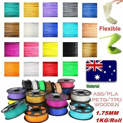 3D Printer Filament 1.75mm PLA ABS PC PETG TPU 1KG Colours Engineer Drawing Art.