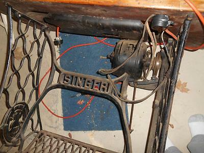 Vintage  Singer Table with Motor