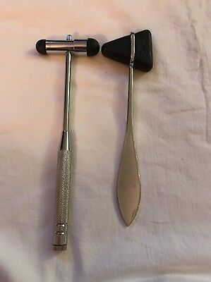 Percussion Reflex Hammer Set Excellent Condition. Free Shipping.