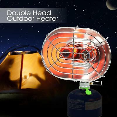 Double Head Outdoor Heater Portable Infrared Camping Heating Stove Warmer Z3K6