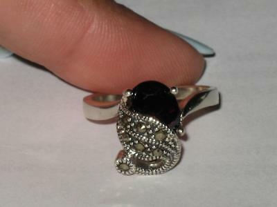 White Witch Estate Garnet Ring 925 10 HEALTH WEALTH HAPPINESS LOVE DREAMS FILLED
