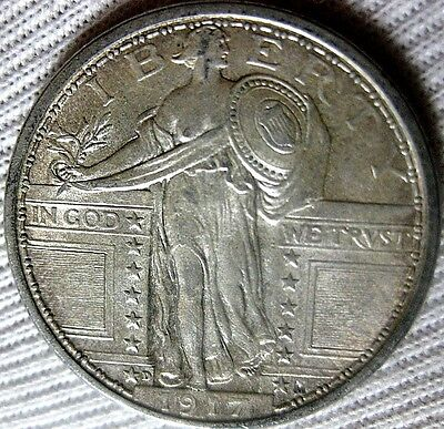1917 D Standing Liberty Quarter Type 1   Choice Uncirculated Full Head